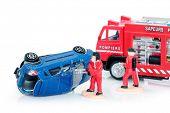 Firemen at car crash