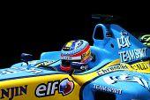 Formula One Renault. Shallow DOF.