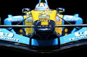 Formula One Renault. Shallow DOF. Focus on front of vehicle.