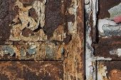 Paintings On Rusty Metal, Metal Corroded Texture, Rusty Metal Background poster