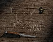 I Love You Carved On Wood
