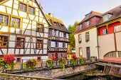 Strasbourg, Alsace, France. Traditional Half Timbered Houses Of Petite France. poster