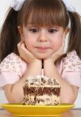 Child Girl And Cake