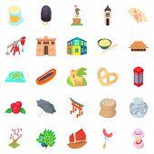 Culture Of Communication Icons Set. Cartoon Set Of 25 Culture Of Communication Icons For Web Isolate poster