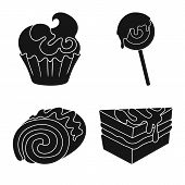 Vector Design Of Sweetness And Product Sign. Collection Of Sweetness And Sweet Stock Symbol For Web. poster