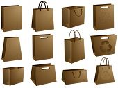 Blank shopping bags