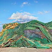 fishnets in irish harbor