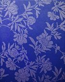 Pattern Painted Flowers On A Bright Blue Background. Background