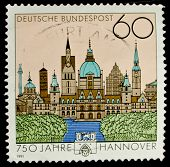 GERMANY - CIRCA 1991: a stamp printed in the Germany shows Hannover, circa 1991
