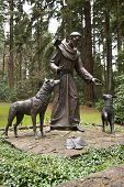 Statue Of St. Frances Of Assisi.