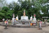 pic of phallus  - Monement with lot of phalluses on the hill Doitong in Chiang Rai Thailand - JPG