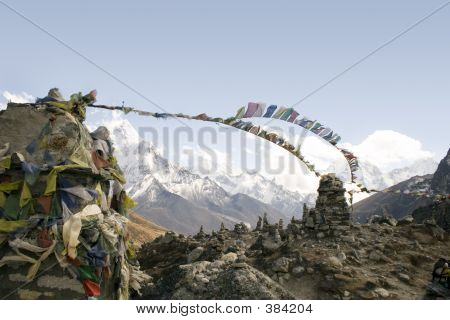 Постер, плакат: Chukpilhara памятники Непал, холст на подрамнике