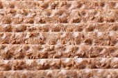 stock photo of wasa bread  - Close up of a crispbread with sesame seeds as a food background