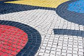 Detail Of Mosaic In Les Rambles, Barcelona