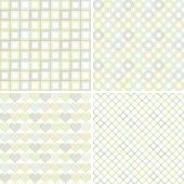 Set of seamless patterns with geometric shapes