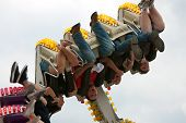 Teens Get Turned Upside Down On Carnival Ride
