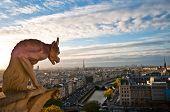 Notre Dame: Gárgula com vista para Paris
