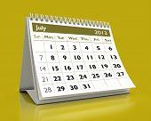 Calendário de julho de 2013