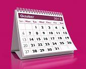Calendário de outubro de 2013