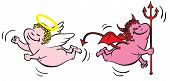 Evil vs. angel