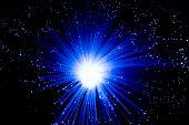 The Blue Optical Fibres
