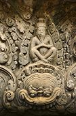 pic of concubine  - detail of carvings in angkor thomUNESCO world heritagecambodia - JPG