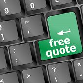 Key For Free Quote - Business Concept