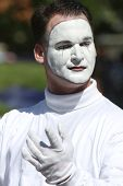 Mime Poses During Parade