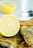 Baklavas And Fresh Lemon