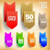 Vector Paper Sale Tags