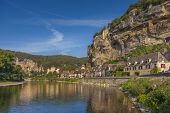 River view of the town of Roc Cageac, Dordogne, France