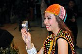 Borneo Native Beauty Taking Photo