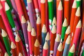 Decorated Pencils Close-up