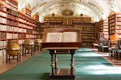 Library, Ancient Books, Globes In Stragov Monastery Czech Republic Prague