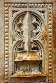 Detalhe de uma coluna em o Mosteiro da Batalha, POrtugal