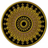 Elegant golden, black and brown ornament