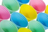 Cupcake baking cups in pastels