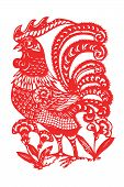 picture of kirigami  - Chinese papercut  twelve Chinese horoscope animals art - JPG