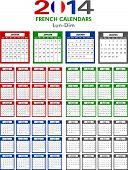 Calendar 2014 French.