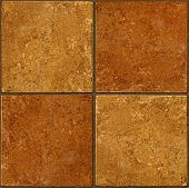 Ceramic Two-tone Brown Stone Tiles Seamlessly Tileable