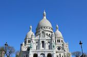 The architecture of Sacre Coeur, Montmartre, Paris, France