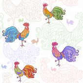 cockerel pattern