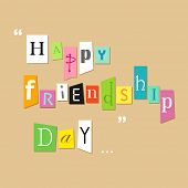 illustration of friendship tagcloud on Happy Friendship Day Greetings