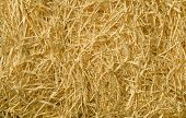 Yellow Packing Straw Material Background
