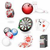 Set Of Vector Casino And Game Elements