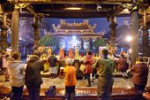 TAIPEI, TAIWAN - JANUARY 11: Worshippers at Longshan Temple January 11, 2013 in Taipei, TW. The temp