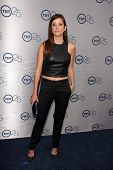 LOS ANGELES - JUL-24: Julie Gonzalo kommt bei TNT 25th Anniversary Party im Beverly Hilton H