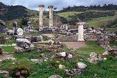 image of artemis  - Old ruins of Artemis temple in Sardis Turkey - JPG
