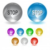 Stop. Raster interface element. Vector version is in portfolio.