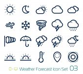stock photo of cumulus-clouds  - Weather Forecast Icons - JPG